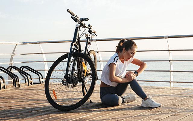 Bolečine v kolenu zaradi kolesarjenja