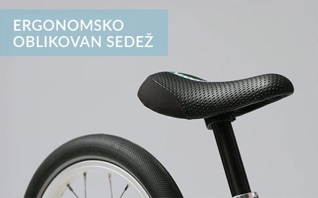 Poganjalec Woom - ergonomsko oblikovan sedež