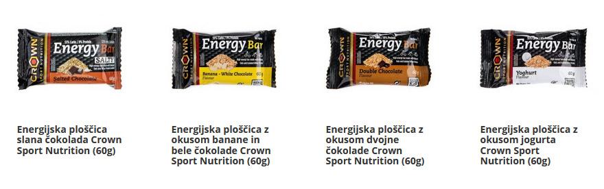 Energijske ploščice za energijo med vadbo