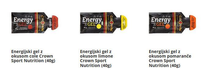 Energijski geli za energijo med vadbo